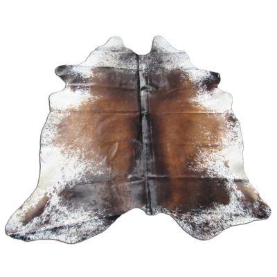 Speckled Longhorn Cowhide Rug Size: 8' X 7' Brown/White Cowhide Rug B-003