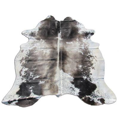 Speckled Cowhide Rug Size:7' X 6 1/4' Brown/White Cowhide Rug B-004
