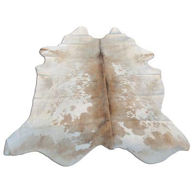 Speckled Cowhide Rug Size: 7 1/2' X 6 1/2' Beige/White Cowhide Rug B-012