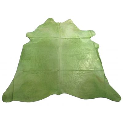 Lime Green Cowhide Rug Size: 8' X 7 3/4' Dyed Green Cowhide Rug C-1043