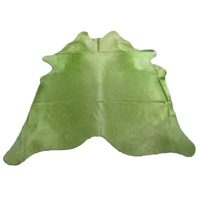 Lime Green Cowhide Rug Size: 7 3/4' X 7 1/4' Dyed Green Cowhide Rug C-1044