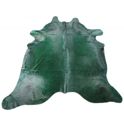 Emerald Green Cowhide Rug Size: 7 1/2' X 6 1/2' Dyed Green Cowhide Rug C-1107