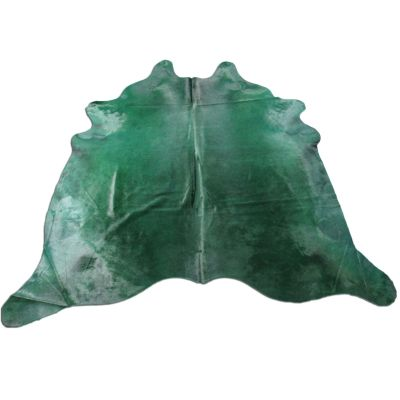 Emerald Green Cowhide Rug Size: 7' X 7 1/4' Dyed Green Cowhide Rug C-1109