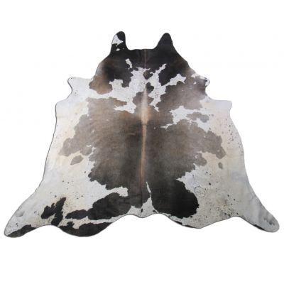 Speckled Grey and White Cowhide Rug Size: 8 1/4' X 7 1/2' Grey/White Cowhide Rug C-1116