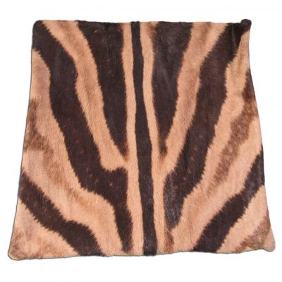 Real Zebra Skin Pillow Cover - 16 in X 16 in - Real Zebra Hide Pillow Cover - C-1130