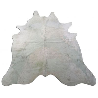 Distressed Mint Green Cowhide Rug Size: 8' X 6 1/2' Green/Beige Acid Washed Cowhide Rug C-1160