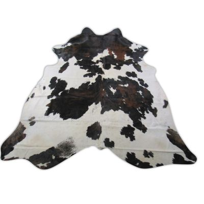 Speckled Tricolor Cowhide Rug Size: 7 1/4' X 7' Speckled Brown and White Cowhide Rug C-1200
