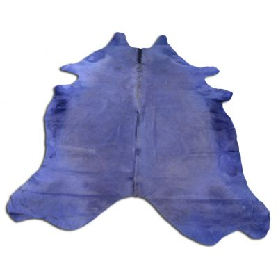 Blue/Purple Cowhide Rug Size: 8 1/4' X 7 1/4' Dyed Blue/Purple Cowhide Rug C-618