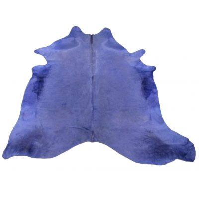 Blue/Purple Cowhide Rug Size: 7 1/4' X 7' Dyed Blue/Purple Cowhide Rug C-640
