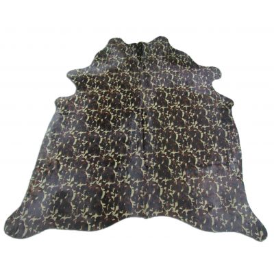 Camo Print Cowhide Rug Size: 7' X 6 1/4' Green/Brown Camouflage Cowhide Rug C-679