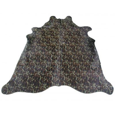 Camo Print Cowhide Rug Size: 7' X 6 1/2' Green/Brown Camouflage Cowhide Rug C-701
