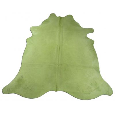 Lime Green Cowhide Rug Size: 8' X 6 1/2' Dyed Green Cowhide Rug C-713
