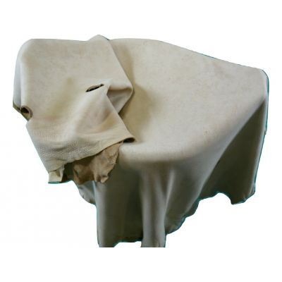 """White Tail Deer Rawhide Leather Size:48""""X26"""" Buckskin Leather Brain Tanned M-104"""