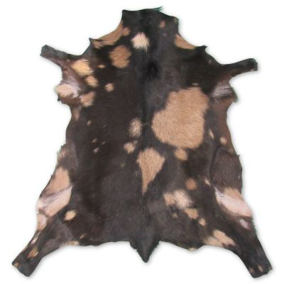 "Dark Brown Goat Skin Size: 38"" X 33"" Brown/Beige Sheep Hide F-561"