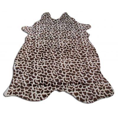 Giraffe Print Cowhide Rug Size: 7 1/4' X 6 1/4' Brown/White Giraffe Cowhide Rug F-576