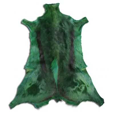 Dyed Forest Green Springbok Skin African Antelope Large