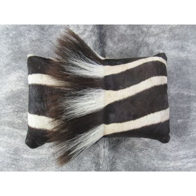 Zebra Neck Pillow 16x10 inches Real Burchell's Zebra Leather Pillow - Made in USA