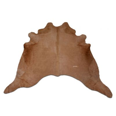 Brown Cowhide Rug Size: 7 1/2' X 7' Dyed Brown Cowhide Rug J-492
