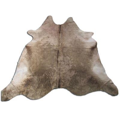 Dark Alpen Cowhide Rug Size: 8' X 7 1/4' Brown/Beige Cowhide Rug K-127