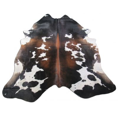 Speckled Brown and White Cowhide Rug Size: 8' X 7' Brown/White Cowhide Rug K-148