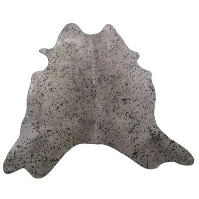 Brown Acid Washed Cowhide Rug Size: 7' X 6' Dyed Brown Cowhide Rug K-169