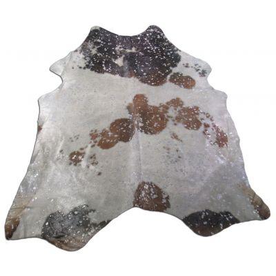 Silver Cowhide Rug Size: 7' X 6' Brown/Silver Acid Washed Cowhide Rug K-170