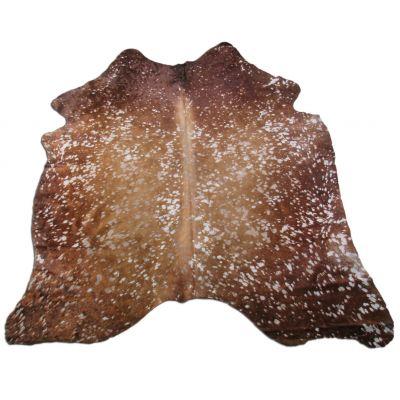 Brown Acid Washed Cowhide Rug Size: 7 1/2' X 6' Brown/Beige Cowhide Rug K-171