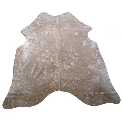 Beige Acid Washed Cowhide Rug Size: 7' X 6' Grey/Beige Cowhide Rug K-172