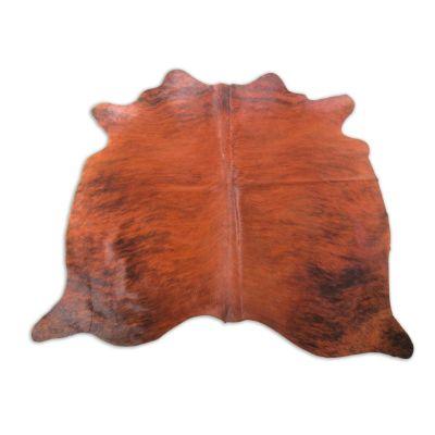 Medium Brindle Cowhide Rug Size: 5 3/4' X 5 3/4' Beige/Brown Brindle Cowhide Rug K-198