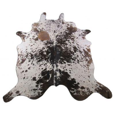 Speckled Cowhide Rug Size: 7' X 6' Brown/White Cowhide Rug K-206