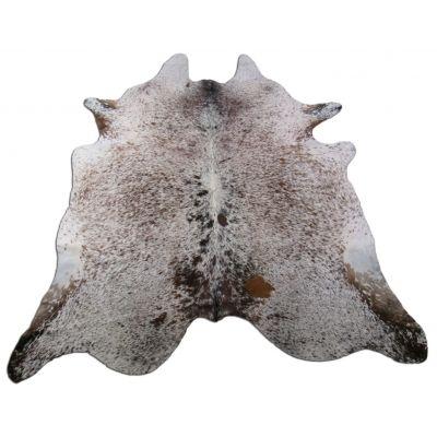 Salt & Pepper Cowhide Rug Size: 7 1/4' X 6 1/2' Brown/White Cowhide Rug K-207
