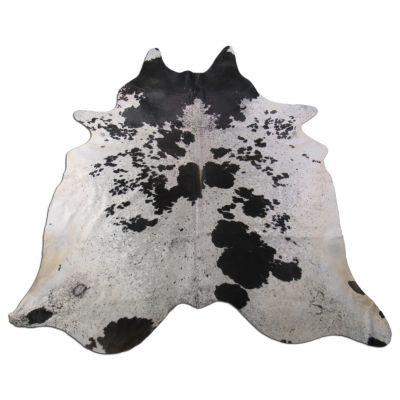 Speckled Cowhide Rug Size: 7 1/4' X 6 1/4' Black/White Cowhide Rug K-208