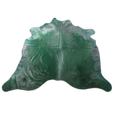 Emerald Green Cowhide Rug Size: 6' X 7' Dyed Green Cowhide Rug K-231