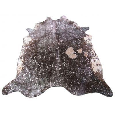 Silver Cowhide Rug Size: 7' X 6 3/4' Brown/Silver Acid Washed Cowhide Rug K-239
