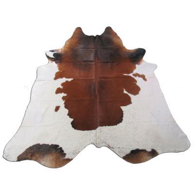Speckled Cowhide Rug Size: 7 1/4' X 7' Brown/White Cowhide Rug K-248