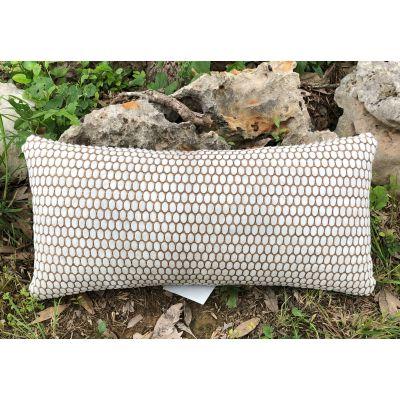 """Cowhide Pillow Size: 12"""" X 24"""" Laser Design Calfskin Pillow-202"""