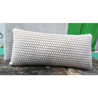 """Cowhide Pillow Size: 10"""" X 20"""" Laser Design Calfskin Pillow-210"""