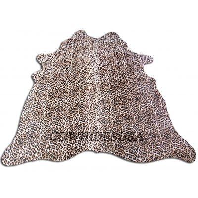 Snow Leopard Print Cowhide Rug Size: 6 1/4 X 6' Leopard Cowhide Rug N-028