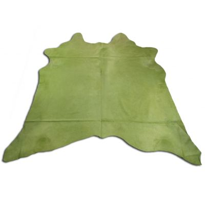 Lime Green Cowhide Rug Size: 6 1/4' X 7' Dyed Green Cowhide Rug N-321
