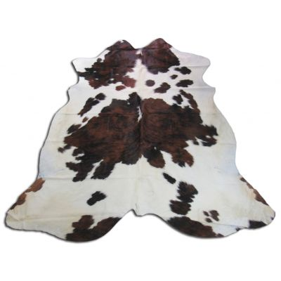 Tricolor Cowhide Rug Size: 7 1/2' X 7' Spotted/Speckled Brown and White Cowhide Rug O-649