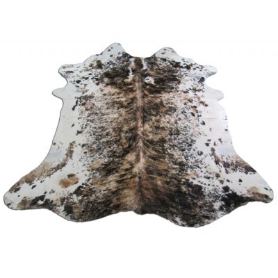 Speckled Tricolor Cowhide Rug Size: 6 1/2' X 7' Brown/White Cowhide Rug O-780