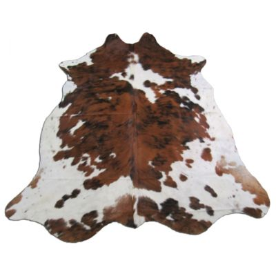 Tricolor Cowhide Rug Size: 7' X 6 1/4' Speckled Brown and White Cowhide Rug O-783