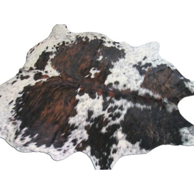 Speckled Tricolor Cowhide Rug Size: 7' X 7' Brown/White Cowhide Rug O-784