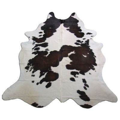 Brown & White Cowhide Rug Size: 8' X 6 1/2' Spotted Brown and White Cowhide Rug O-795