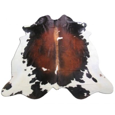Brown & White Cowhide Rug Size: 7' X 6 1/2' Spotted Brown and White Cowhide Rug O-798