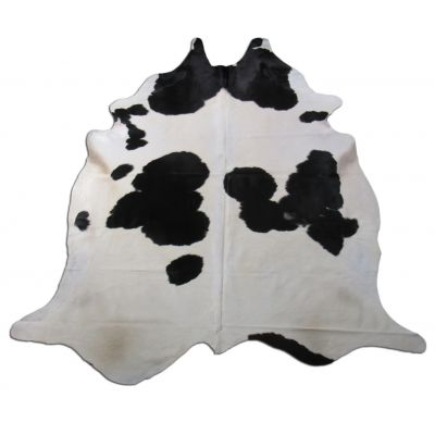 Black & White Cowhide Rug Size: 8' X 7' Spotted Black and White Cowhide Rug O-837