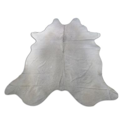 Light Grey Cowhide Rug Size: 8 1/4' X 7 1/4' Grey/White Cowhide Rug O-841