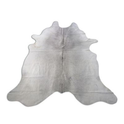 Light Grey Cowhide Rug Size: 7 1/4' X 6 1/2' Grey/White Cowhide Rug O-842