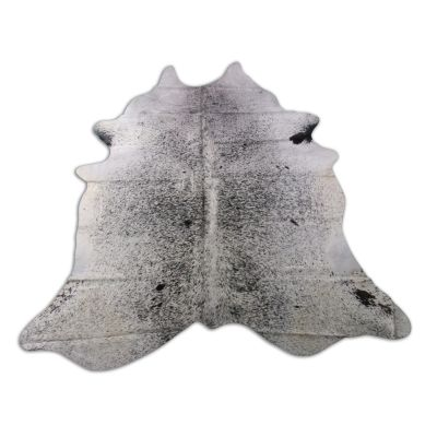 Salt & Pepper Cowhide Rug Size: 7 1/4' X 6 1/2' Black/White Cowhide Rug O-857