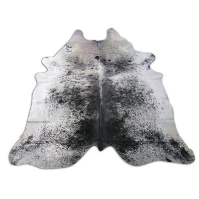 Salt & Pepper Cowhide Rug Size: 8 1/4' X 7 1/4' Black/White Cowhide Rug O-860